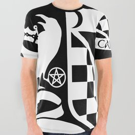 Cabot Crest Hermetic White/Black All Over Graphic Tee