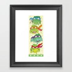 Teenage (a Little Too Mutated) Ninja Turtles Framed Art Print