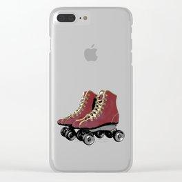 Vintage Wheels Clear iPhone Case
