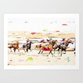 colour race 2 Art Print