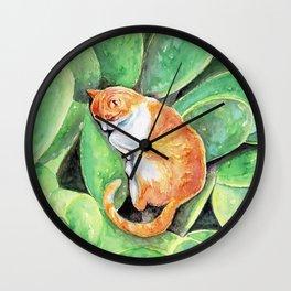 Happy Caturday Wall Clock