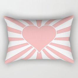 Pink Coral Valentine Love Heart Explosion Rectangular Pillow