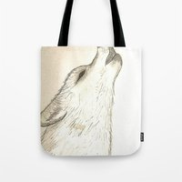howl Tote Bags featuring Howl by Lindzey42