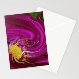 Pink Floral Swirl Stationery Cards