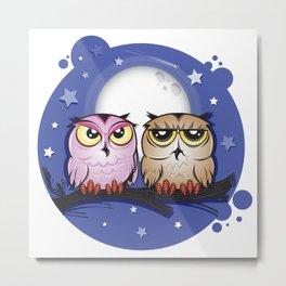 Night Owls Metal Print