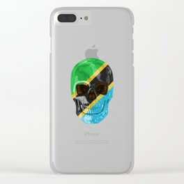Skull Flag Of Tanzania Clear iPhone Case