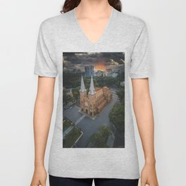 Notre-Dame Cathedral Basilica of Saigon Unisex V-Neck