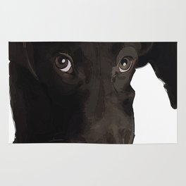Chocolate Labrador Puppy Rug