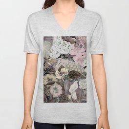Woman flower Unisex V-Neck