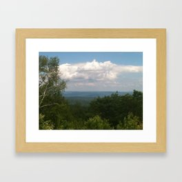 Clouds Over the Mountains Framed Art Print