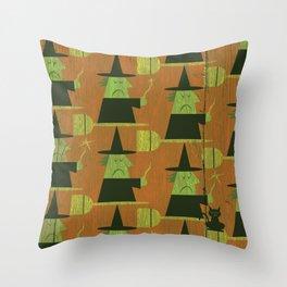 Basic Witch Wallpaper Throw Pillow