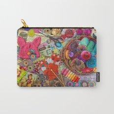 Vintage Yarn & Thread Carry-All Pouch