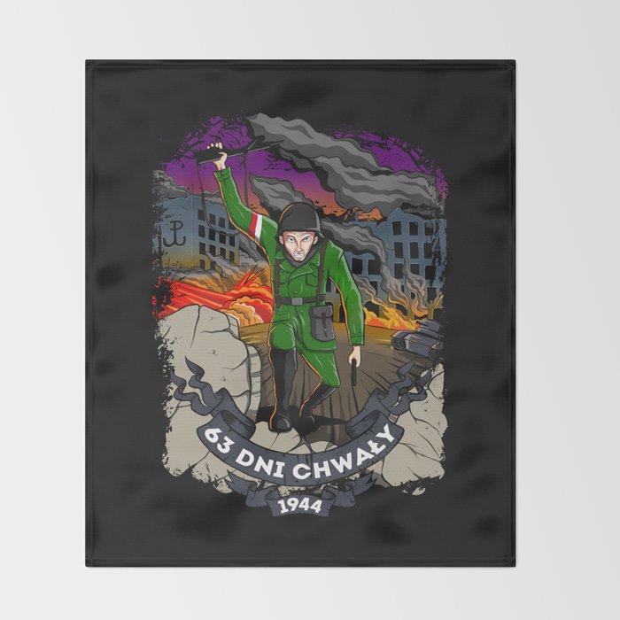 Warsaw Uprising Throw Blanket