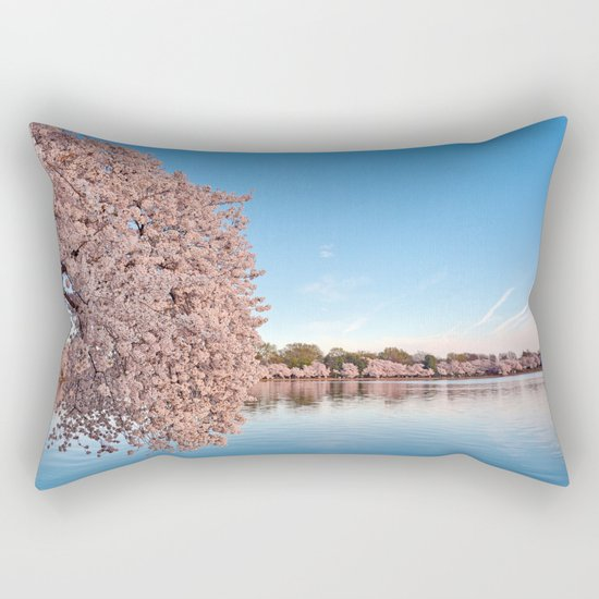 Washington DC Cherry Blossoms Rectangular Pillow