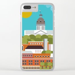 Columbia, South Carolina - Skyline Illustration by Loose Petals Clear iPhone Case