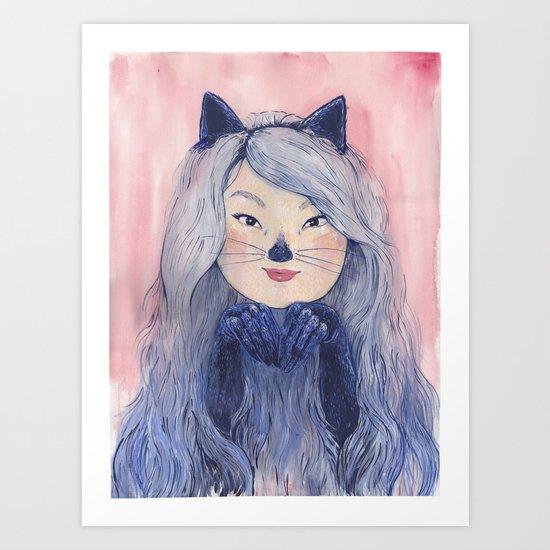 BaeBae Kitty Art Print