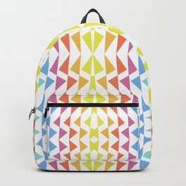 DAO Multi-Color Pink, Blue & Yellow Abstract 01-19c Backpack