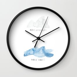 Move Mountains / Make Waves Wall Clock
