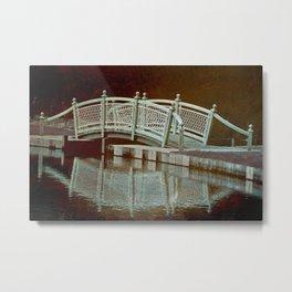 Bridge in a pond Metal Print