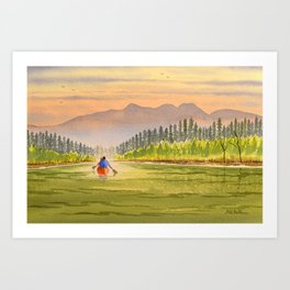 Canoeing The Yukon River Art Print