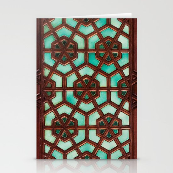 Turquoise orient Stationery Cards