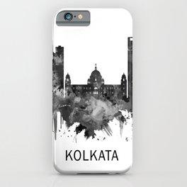 Kolkata West Bengal Skyline BW iPhone Case