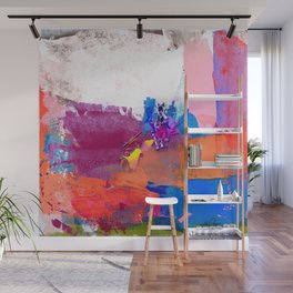 polo abstract red blue Wall Mural