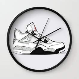 """Air Jordan IV """"Cement"""" Wall Clock"""