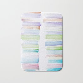 23  | 181101 Watercolour Palette Abstract Art | Lines | Stripes | Bath Mat