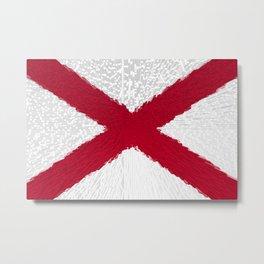Extruded flag of Alabama Metal Print