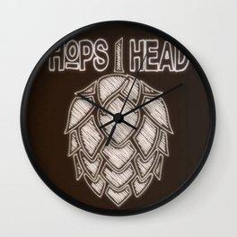 Hops Head - Chalkboard Style Print Wall Clock