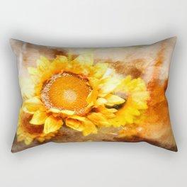 Sunflowers Aglow Rectangular Pillow