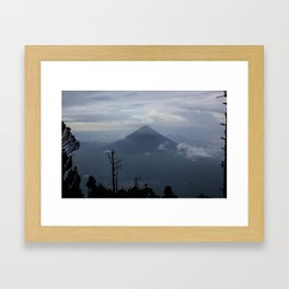 Guatemala Mountain top Framed Art Print