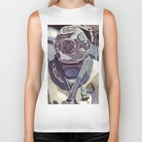 diver Biker Tanks featuring Diver by Five Ate Five Studios