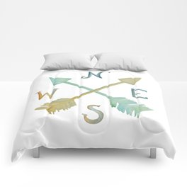 Colorful compass Comforters