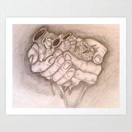 Jar of Hearts Art Print