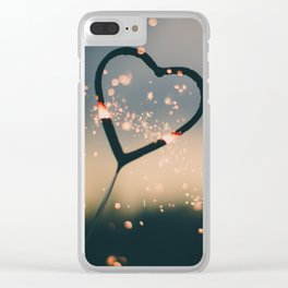 Heart Spark Clear iPhone Case