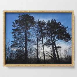 Winter Pine Trees Serving Tray