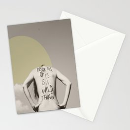 inside all of us is a wild thing   Stationery Cards