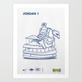 Jodan 1 Poster Art Print