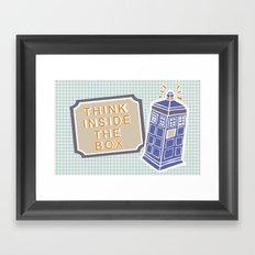 think inside the box Framed Art Print