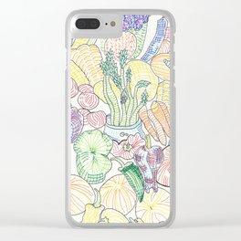 Vegetable Cornucopia Clear iPhone Case