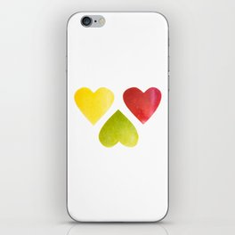 Three heart shaped apples iPhone Skin