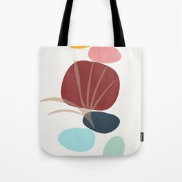 Moments - colorful stones leaf imprint Tote Bag
