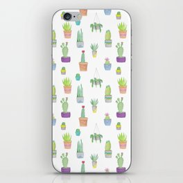 Cacti and Succulent Pattern iPhone Skin