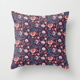 Floral Roma (Multi) Throw Pillow