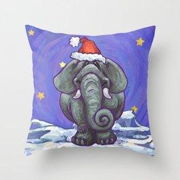 Elephant Christmas Throw Pillow