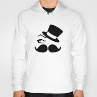mustache Hoodies featuring mustache  by LCMedia