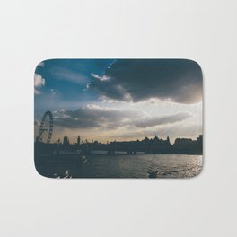 River Thames Sunset Bath Mat