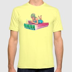 Watermelon Lemon SMALL Mens Fitted Tee